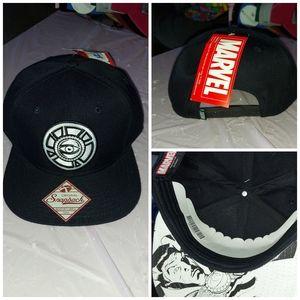 Marvel snapback hat with eye symbol black unisex